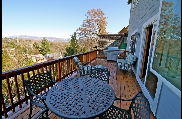 Deck off the kitchen and family room