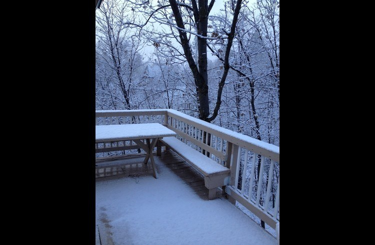 Upper deck with snow