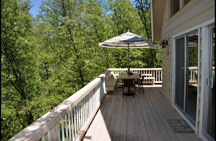 Deck on the main level