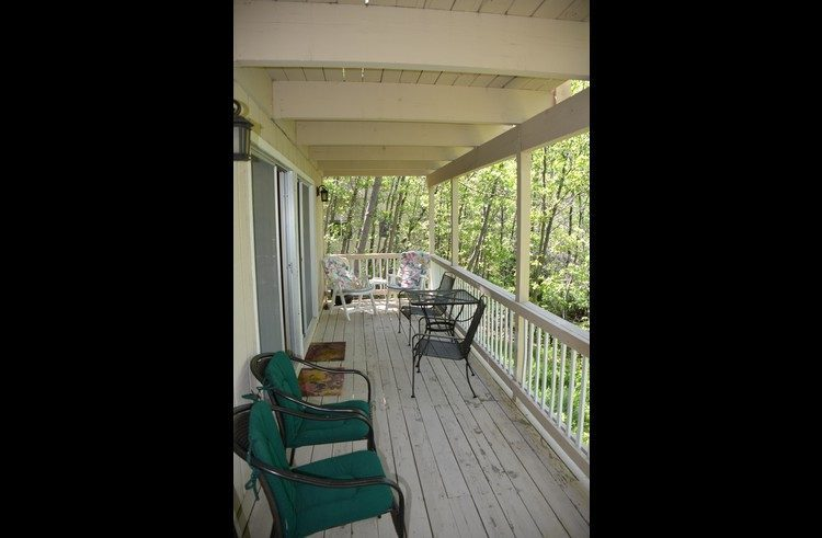 Deck on the lower level