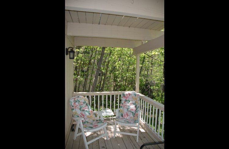 Lower deck with patio furniture