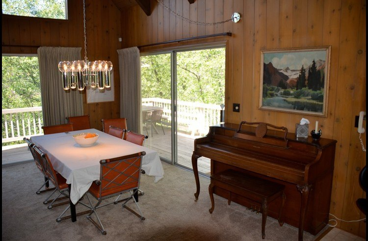 Piano next to the dining table