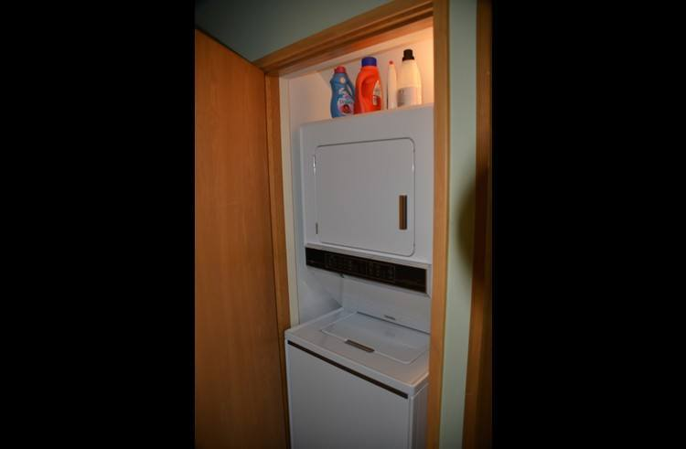 Stackable washer/dryer on lower level