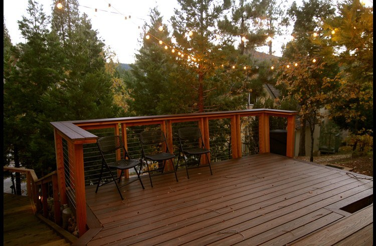 Deck off the entry to the cabin
