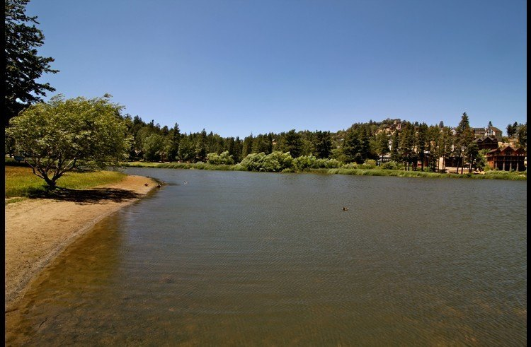 Grass Valley Lake walking distance from the lodge