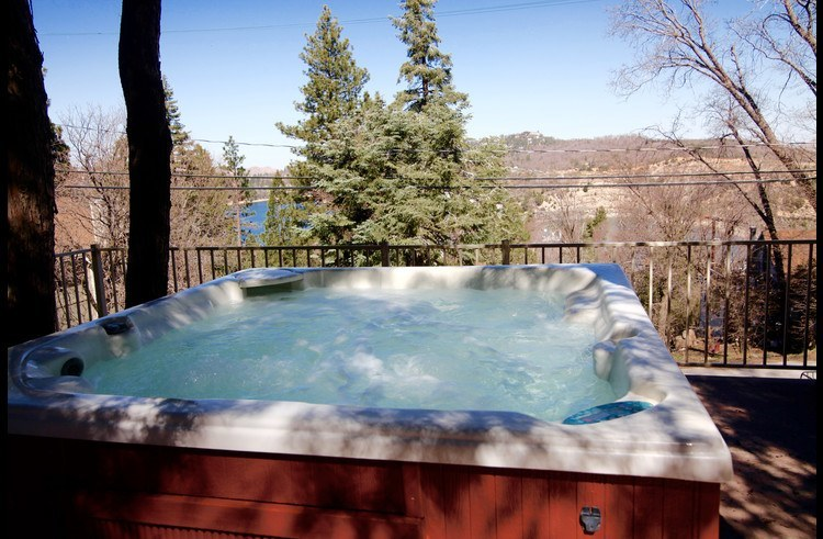 View of Lake Arrowhead from the hot tub